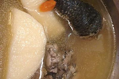 红枣杞子山药乌鸡汤(二人分量)