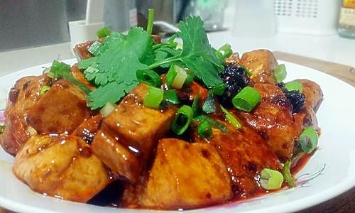 【麻辣香豆腐】的做法