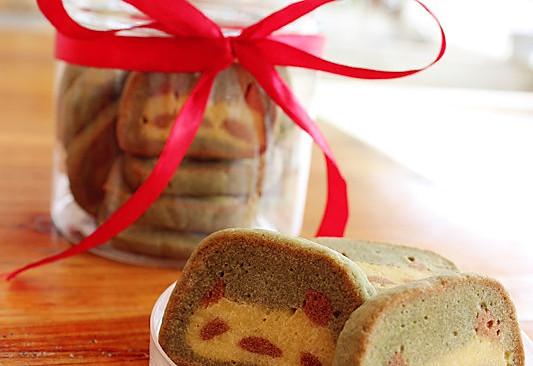 抹茶熊猫饼干的做法