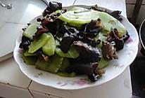 葱油莴笋木耳的做法
