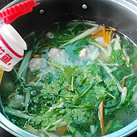 -小白菜肉丸汤#平衡美食大作战#的做法图解10