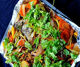 鲜蔬烤鱼的做法