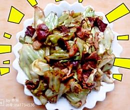 腊肉炒包菜的做法
