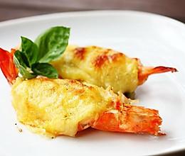 菜男蒜香芝士焗大虾的做法