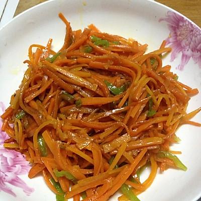 清炒胡萝卜