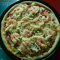 鲜虾火腿披萨的做法图解13