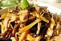 黄花菜木耳炒肉丝的做法