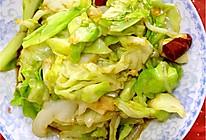 炝炒圆白菜的做法
