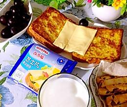 省心早餐-百吉福芝士片创意早餐菜谱的做法