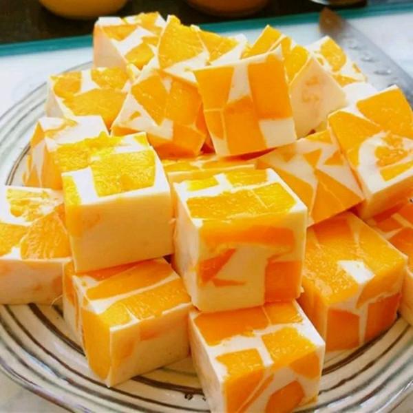 椰奶芒果冻