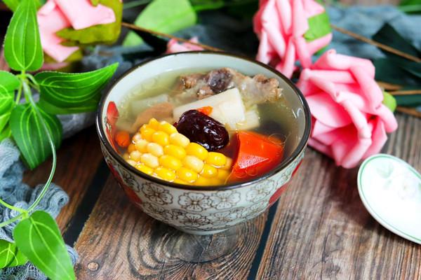 健脾养胃山药玉米排骨汤的做法
