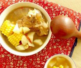 棒骨山药玉米汤的做法