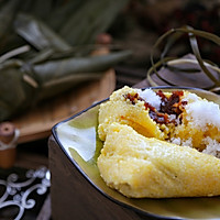 #甜粽VS咸粽,你是哪一党?大黄米粽子 (圆锥粽包法视频)的做法图解9
