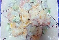 芥末水果虾球的做法