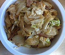 大白菜炒干豆腐的做法