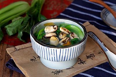 贻贝肉青菜汤(无油)#节后清肠大作战#