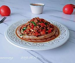 葱香茄酱肉焖豆的做法