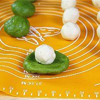 抹茶蛋黄酥的做法的做法图解7