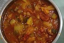 西红柿炖土豆茄子红烧肉(乱炖)酸微甜的做法