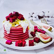 红心火龙果松饼#每道菜都是一台时光机#