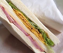 快手早餐三明治的做法