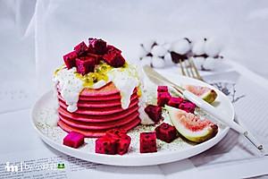 红心火龙果松饼#每道菜都是一台时光机#【图片】