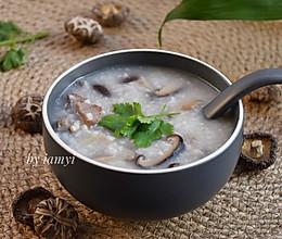 #相聚组个亲友局# 冬菇瘦肉粥的做法