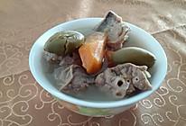 青橄榄红萝卜煲猪肺的做法
