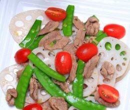 莲藕兰豆炒鸭片的做法