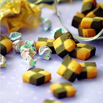 绿茶格子饼干