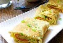 葱花方火腿鸡蛋饼#急速早餐#的做法