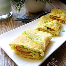 葱花方火腿鸡蛋饼#急速早餐#