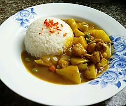 咖喱土豆鸡腿盖浇饭的做法