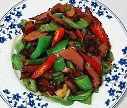 #尽享安心亲子食刻#尖椒炒腊肉的做法