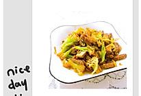 牛肉花菜的做法