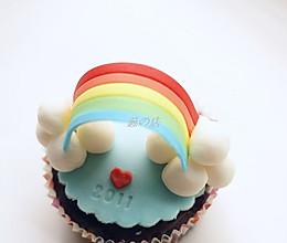 彩虹翻糖杯子蛋糕的做法