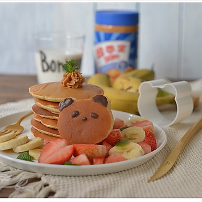 [早Fun我要甜]—香蕉花生酱松饼