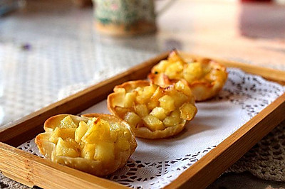 焦糖苹果挞(饺皮版)