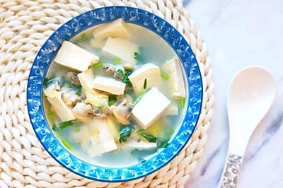 一滴油都不加|5分钟就能搞定的简单扇贝肉豆腐汤