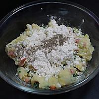 外酥里嫩的鲜蔬土豆饼,简单快手的营养早餐,可做小吃可做主食的做法图解2