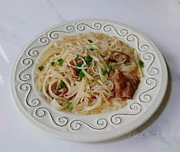 椒肉粉丝萝卜汤的做法