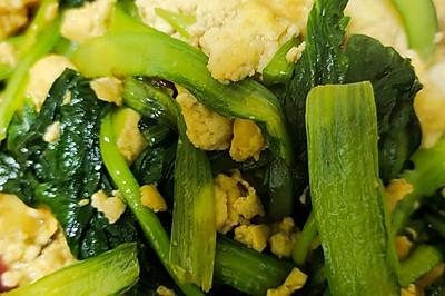 家常小炒-小白菜炒豆腐