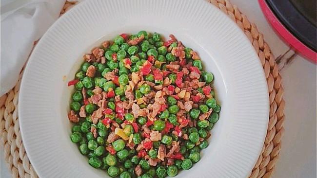 下饭菜~肉沫炒豌豆的做法