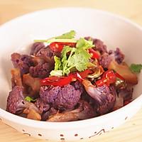 紫色的诱惑 干锅紫菜花