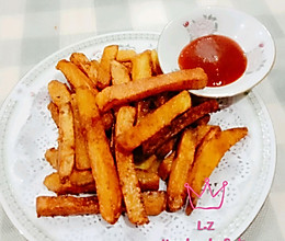 炸薯条(可比汉堡王的大薯条)的做法