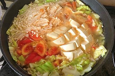 好吃不厌的番茄金针菇豆腐汤