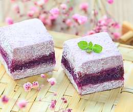紫薯蒸蛋糕的做法