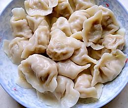 白菜大肉水饺+芹菜大肉水饺的做法