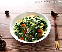 荤油炒青菜的做法