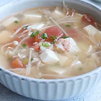 金针菇虾仁豆腐汤#花10分钟,做一道菜!#的做法图解12